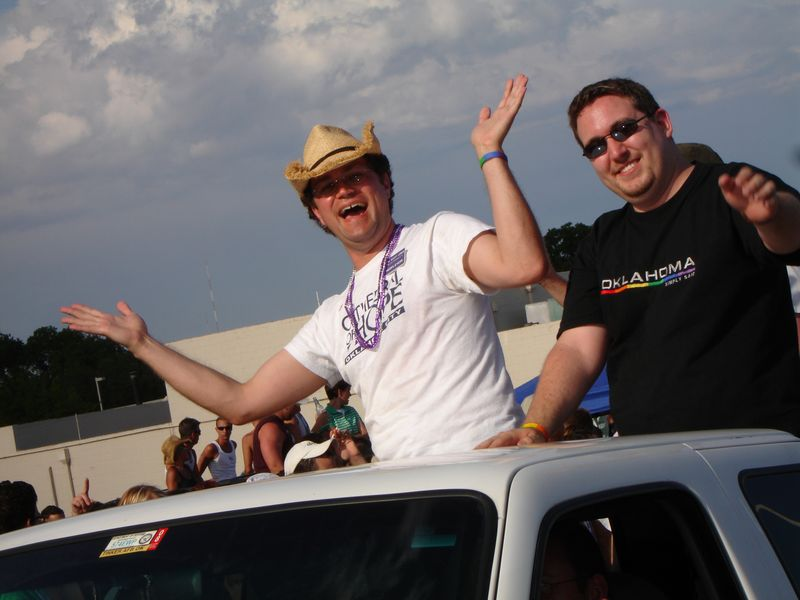 Scott & Orrin in 2006 Pride Parade